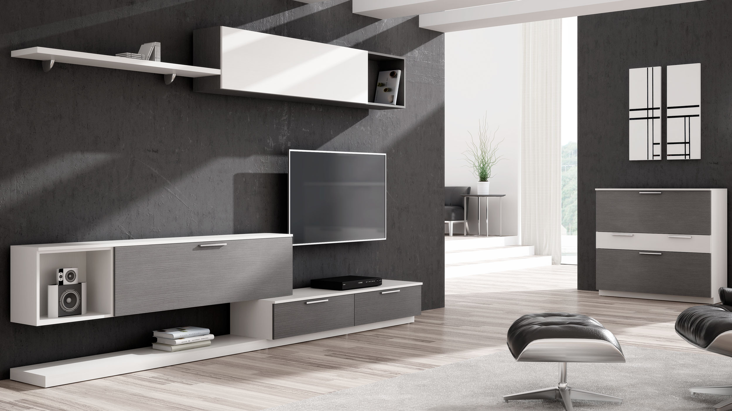 Mueble de sal n ferpi muebles - Mueble ordenador salon ...