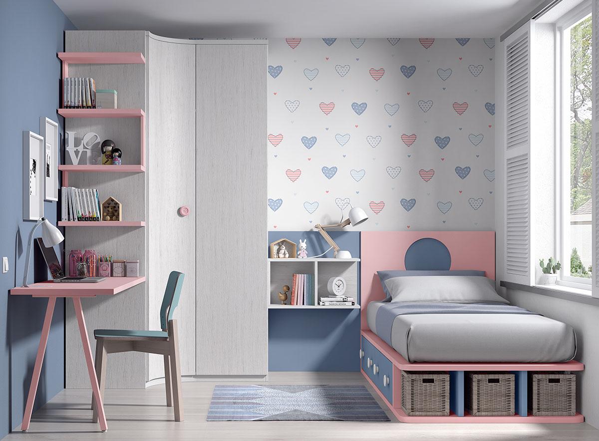Juvenil 8009 fo506 ferpi muebles - Dormitorios juveniles poco espacio ...